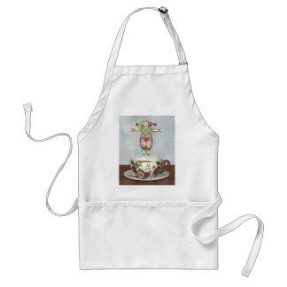 Muñeca del payaso de Pierrot que salta en una taza Delantal