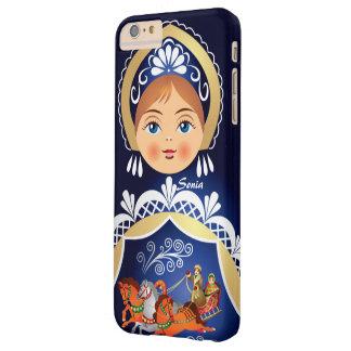 Muñeca del ruso de Babushka Matryoshka Funda Barely There iPhone 6 Plus