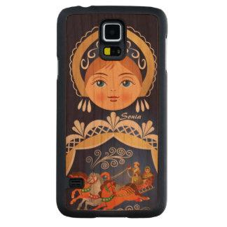 Muñeca del ruso de Babushka Matryoshka Funda De Galaxy S5 Slim Cerezo