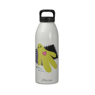 Muñeca del vudú botella de agua reutilizable