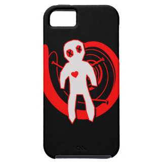 Muñeca del vudú en negro y rojo iPhone 5 carcasas