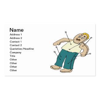 Muñeca del vudú tarjetas de visita