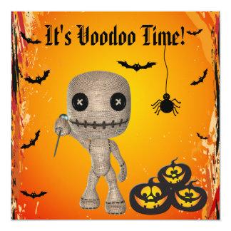 Muñeca del vudú y fiesta lindos de Halloween de Invitación 13,3 Cm X 13,3cm