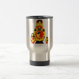 Muñeca elegante de Rusia Matryoshka del ruso del v Taza De Café