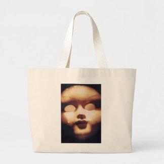 Muñeca espeluznante bolsa tela grande