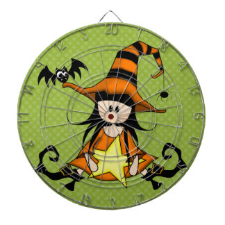 ¡Muñeca femenina de la bruja de Halloween - linda! Tabla Dardos