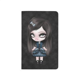 Muñeca femenina gótica del gótico magnífico cuaderno