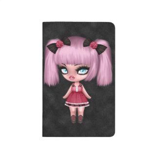 Muñeca femenina magnífica del gótico con el pelo cuaderno