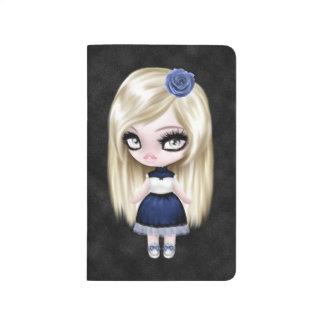 Muñeca femenina magnífica del gótico cuadernos grapados
