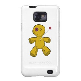 Muñeca fijada del vudú del dibujo animado de Brown Samsung Galaxy S2 Funda