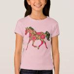 Muñeca floral de los chicas del caballo (cabida) remera