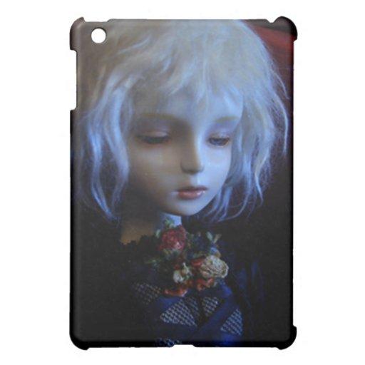 muñeca gótica del chica del caso del iPad