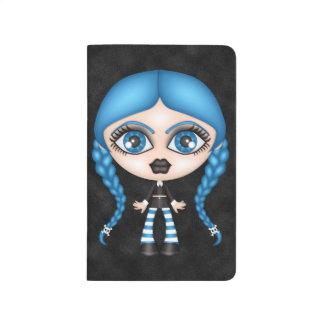 Muñeca gótica del gótico retro cuadernos