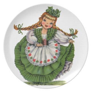 Muñeca irlandesa platos para fiestas