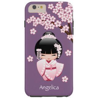 Muñeca japonesa de Kokeshi de la novia Funda Para iPhone 6 Plus Tough