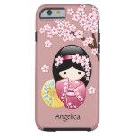 Muñeca japonesa de Kokeshi de la primavera Funda Para iPhone 6 Tough