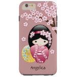 Muñeca japonesa de Kokeshi de la primavera Funda De iPhone 6 Plus Tough