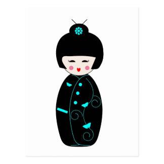 Muñeca japonesa del geisha postales