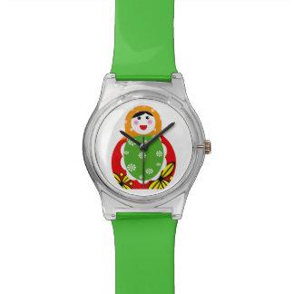 muñeca jerarquizada rusa linda relojes