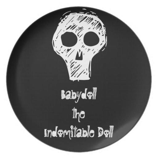 Muñeca la placa indomable de la muñeca plato de cena