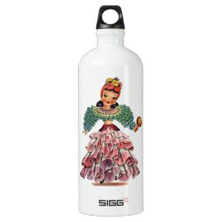 Muñeca latina botella de agua