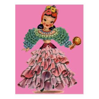 Muñeca latina postales