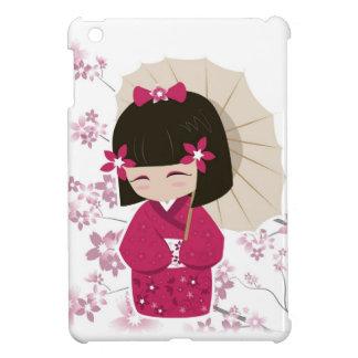 Muñeca linda de Sakura Kokeshi iPad Mini Cobertura