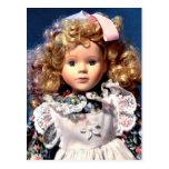 Muñeca linda de Shirley Temple Tarjetas Postales