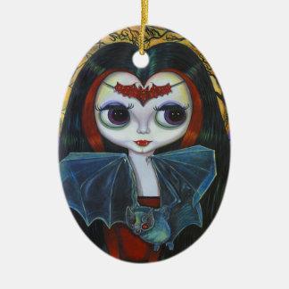 Muñeca linda del vampiro con el ornamento del palo ornatos