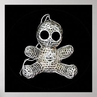 Muñeca linda del vudú de Amigurumi Póster