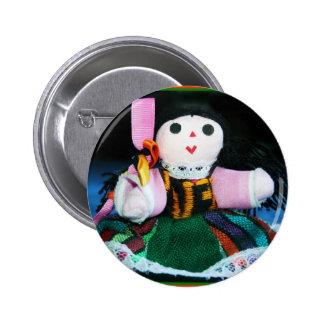 Muñeca mexicana del paño pin