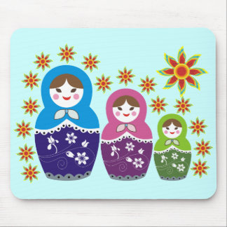 Muñeca Mousepads. de Matryoshka del ruso Alfombrillas De Raton