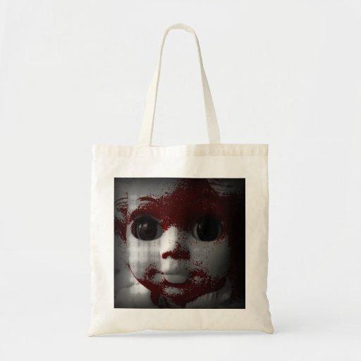 Muñeca muerta viva macabra bolsa de mano