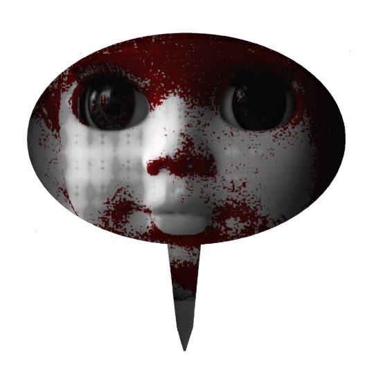 Muñeca muerta viva macabra figura de tarta