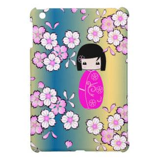Muñeca personalizada de Kokeshi, caso del iPad iPad Mini Funda