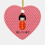 Muñeca personalizada de Kokeshi, ornamento Adorno De Navidad