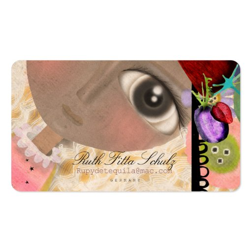 Muñeca que soña la tarjeta de visita