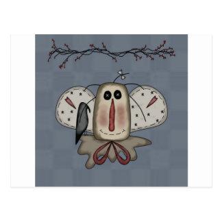 Muñeca Raggedy de Annie con el cuervo Tarjeta Postal