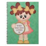 Muñeca Raggedy de costura de la costurera Cuadernos