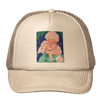 Muñeca retra del juguete del kitsch 30s del vintag gorras