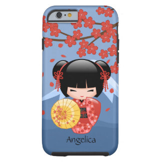 Muñeca roja japonesa de Sakura Kokeshi Funda Para iPhone 6 Tough