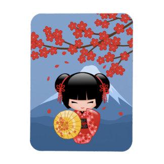 Muñeca roja japonesa de Sakura Kokeshi Iman Rectangular