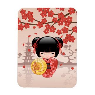 Muñeca roja japonesa de Sakura Kokeshi Iman De Vinilo