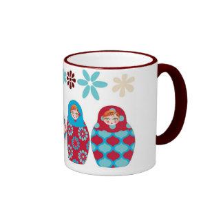 muñeca rusa multico tazas de café