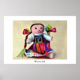 Muñeca tejida póster