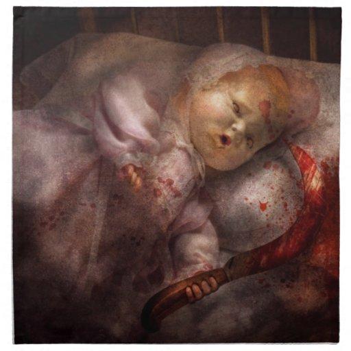 - Muñeca - terrores de noche espeluznantes Servilletas Imprimidas