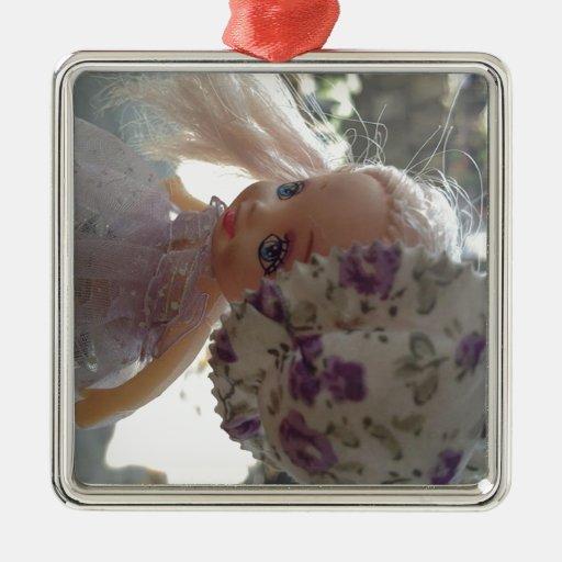 Muñeca vestida primavera ornamento de navidad