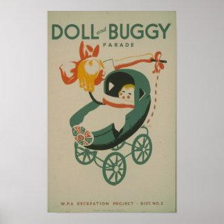 Muñeca y desfile con errores póster