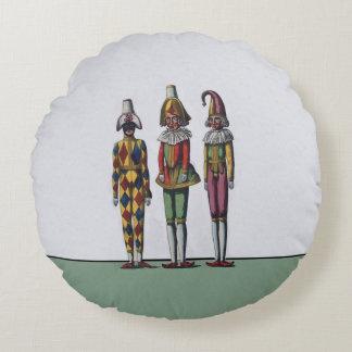 Muñecas caprichosas coloridas del bufón del cojín redondo