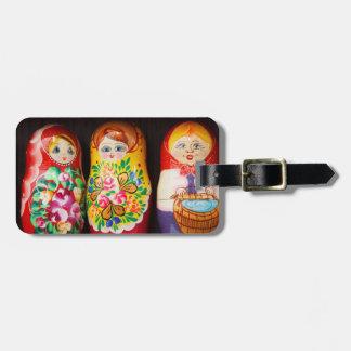 Muñecas coloridas de Matryoshka Etiquetas De Equipaje